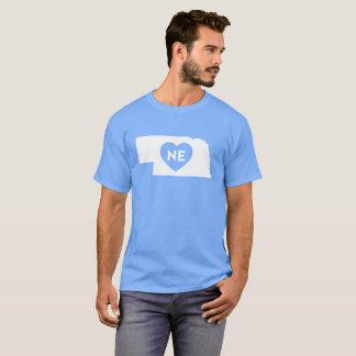 I Love Nebraska State Men's Basic Dark T-Shirt