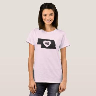 I Love Nebraska State Women's Basic T-Shirt