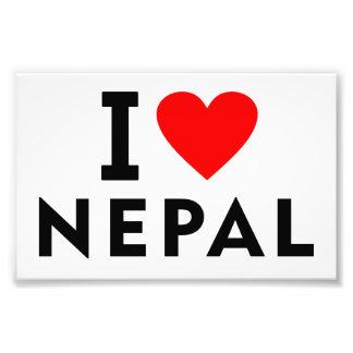 I love Nepal country like heart travel tourism Photo Print