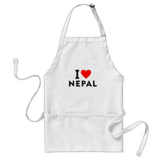 I love Nepal country like heart travel tourism Standard Apron