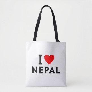 I love Nepal country like heart travel tourism Tote Bag