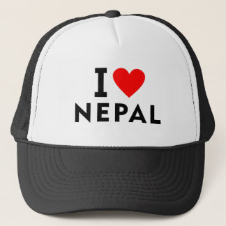 I love Nepal country like heart travel tourism Trucker Hat