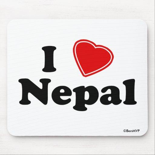 I Love Nepal Mousepad