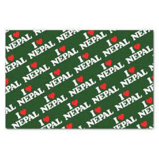 I LOVE NEPAL TISSUE PAPER