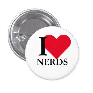 I Love Nerds 3 Cm Round Badge