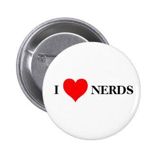 I love nerds 6 cm round badge