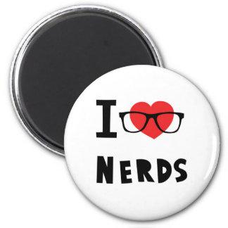 I love nerds 6 cm round magnet