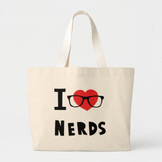 I love nerds jumbo tote bag
