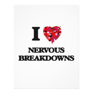 I Love Nervous Breakdowns 21.5 Cm X 28 Cm Flyer
