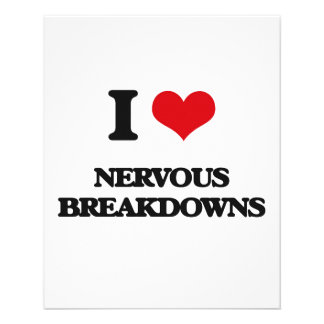 I Love Nervous Breakdowns Flyers