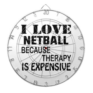 I Love Netball Because Therapy Is Expensive Dartboard