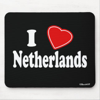 I Love Netherlands Mouse Pad