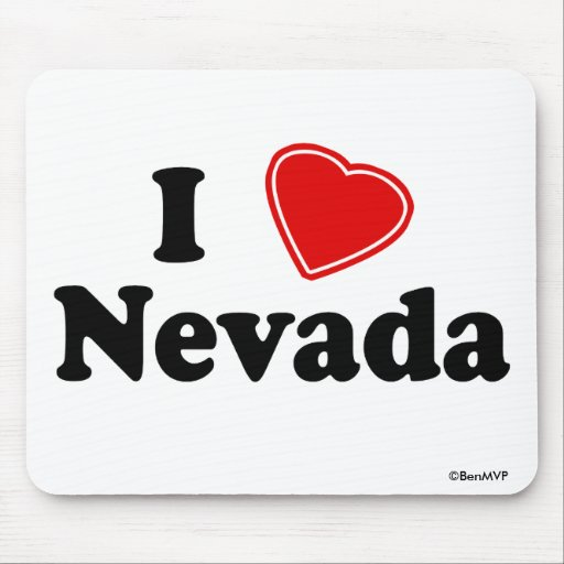 I Love Nevada Mouse Pads