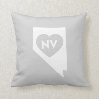 I Love Nevada State Throw Pillow