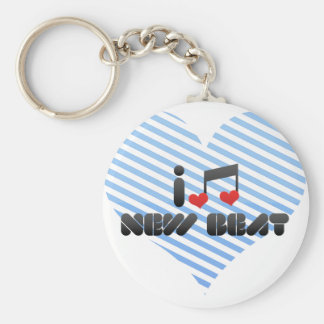 I Love New Beat Key Ring