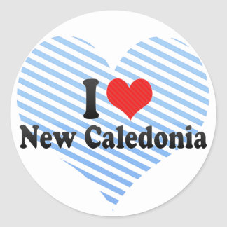 I Love New Caledonia Classic Round Sticker
