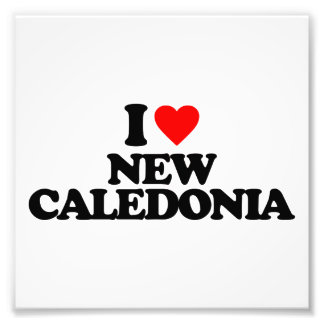 I LOVE NEW CALEDONIA PHOTO PRINT