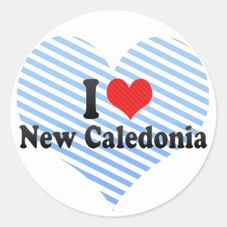 I Love New Caledonia Round Sticker