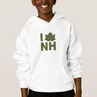 I Love New Hampshire Kid's Hoodie