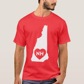 I Love New Hampshire State Men's Dark T-Shirt