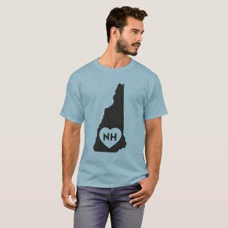 I Love New Hampshire State Men's Dark T-Shirt