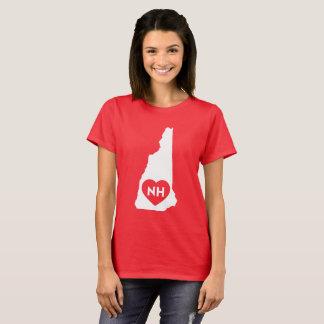 I Love New Hampshire State Women's Basic T-Shirt