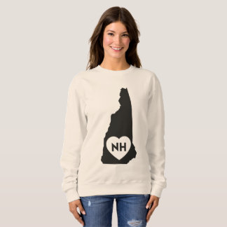 I Love New Hampshire State Women's Sweatshirt