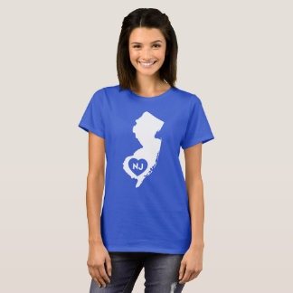 I Love New Jersey State Women's Basic T-Shirt