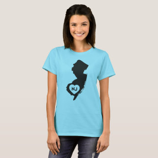 I Love New Jersey State Women's T-Shirt