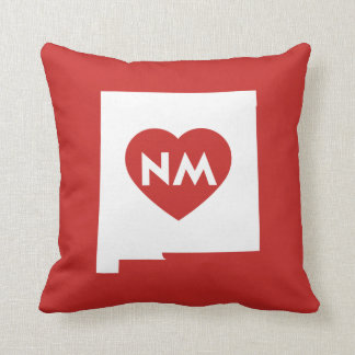 I Love New Mexico State Throw Pillow