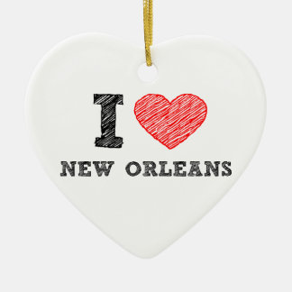 I-Love-New-Orleans Ceramic Ornament