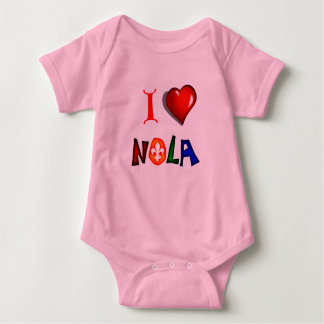 I LOVE NEW ORLEANS LOUISIANA BABY BODYSUIT