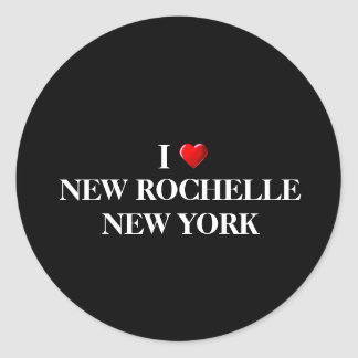 I LOVE NEW ROCHELLE, NEW YORK CLASSIC ROUND STICKER