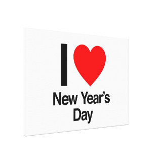 i love new year s day stretched canvas print