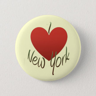 I Love New York 6 Cm Round Badge