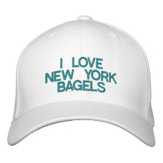 I LOVE NEW YORK BAGELS - Customizable Cap Embroidered Baseball Cap