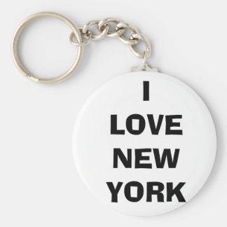 I LOVE NEW YORK BASIC ROUND BUTTON KEY RING