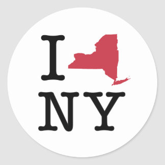 I Love New York Classic Round Sticker