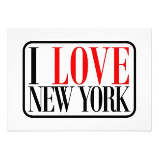 I Love New York Design Custom Announcements