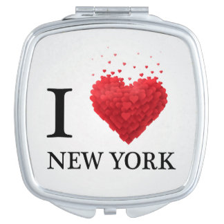 I Love New York Hearts Makeup Mirror