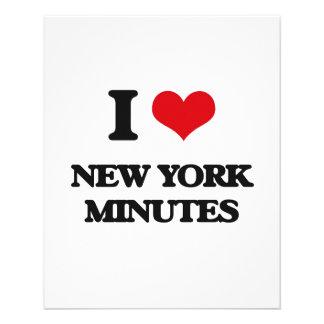 "I love New York Minutes 4.5"" X 5.6"" Flyer"