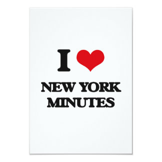 "I love New York Minutes 3.5"" X 5"" Invitation Card"