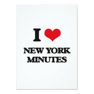 "I love New York Minutes 5"" X 7"" Invitation Card"
