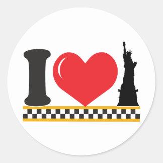 I Love New York Round Stickers