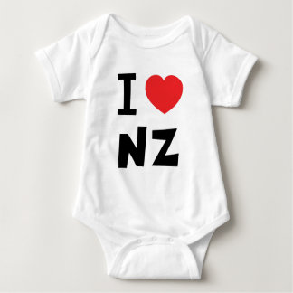 I love new zealand baby bodysuit