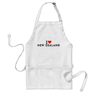 I love New Zealand country like heart travel touri Standard Apron