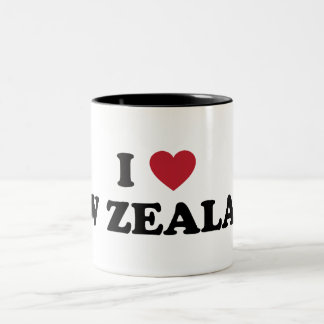 I Love New Zealand Two-Tone Coffee Mug
