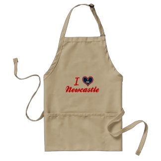 I Love Newcastle Wyoming Aprons