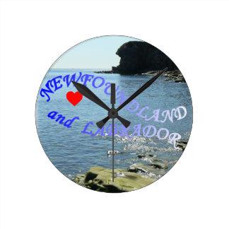 I LOVE NEWFOUNDLAND AND LABRADOR WALLCLOCKS