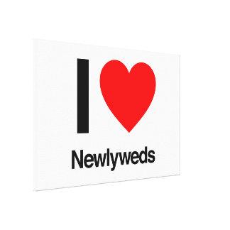 i love newlyweds canvas prints